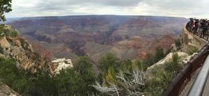A panoramic shot at the Grand Canyon
